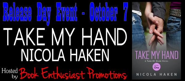 Take My Hand Release Day Event Banner